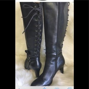 Corso Como Quest black leather boots